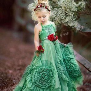NWT Dollcake I am Wrapped Green Frock Dress